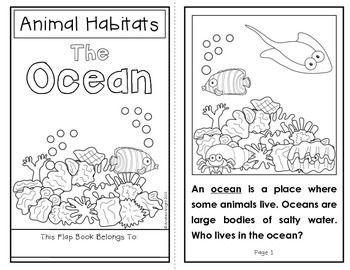 Animal Habitats: The Ocean {A Flap Book Project for Grades