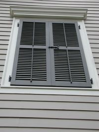 Louvered shutters, Shutters and Window on Pinterest