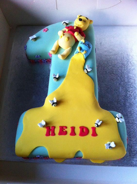 Winnie The Pooh Gluten Free First Birthday Cake Numbers