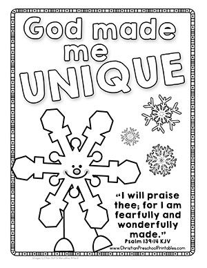 Winter Bible Verse Printables for Sunday School. Snowman