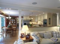 Open kitchen and living room--love the knee wall. | Just ...