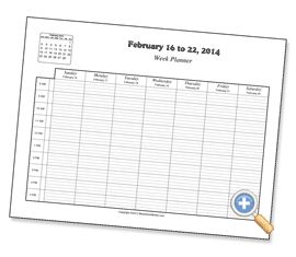 Answer a few questions and a free hourly planner is