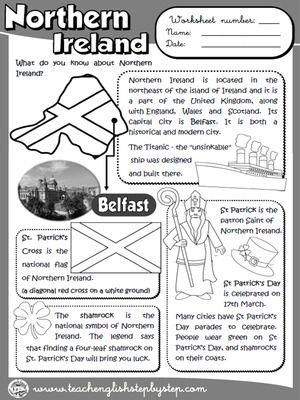 Northern ireland, Worksheets and Ireland on Pinterest