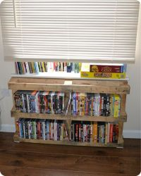 Dvd stand, Dvd rack and Pallets on Pinterest