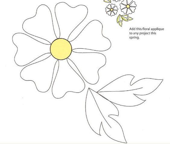 Appliques, Applique patterns and Flower applique patterns