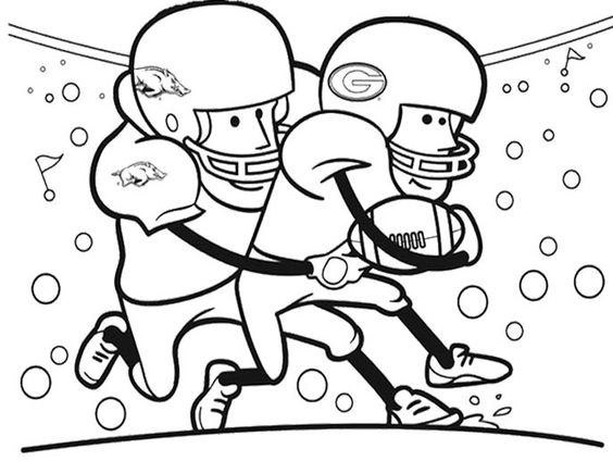 Football, Cartoon and Coloring pages on Pinterest