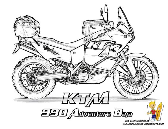 Motorcycles, Coloring and Adventure on Pinterest
