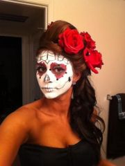 day of dead hair style