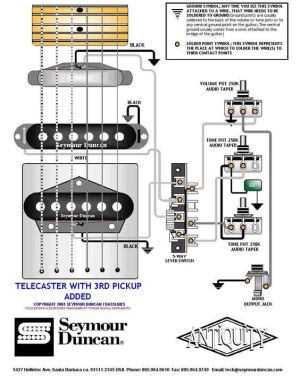 Tele Wiring Diagram with a 3rd pickup added | Telecaster