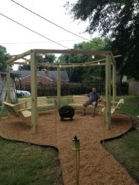 My adult swing set with Fire pit.   5 Acre Paradise ...