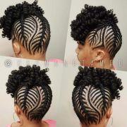 cornrows and crochet curls