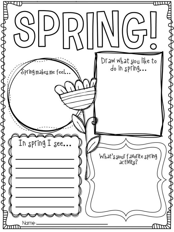 Spring Language Arts Worksheets For Kindergarten