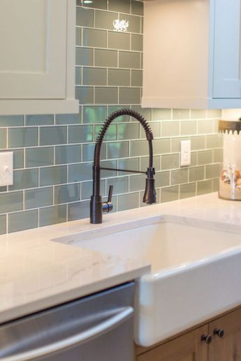 sea green backsplash