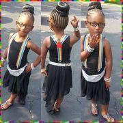 braided bun african princess