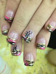 camo nails browning and country