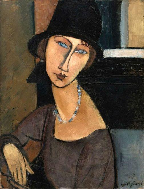'Retrato de Jeanne Hébuterne con sombrero', por Modigliani   Crédito: Wikipedia.                                                                                                                                                      Más: