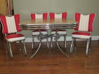 RARE Style READY TO USE 1950's ART DECO CHROME & FORMICA ...