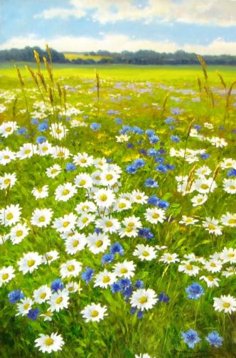 "Gerhard Nesvadba ""Field of Daisies"" http://www.artshopnc.com/component/content/article/318.html:"