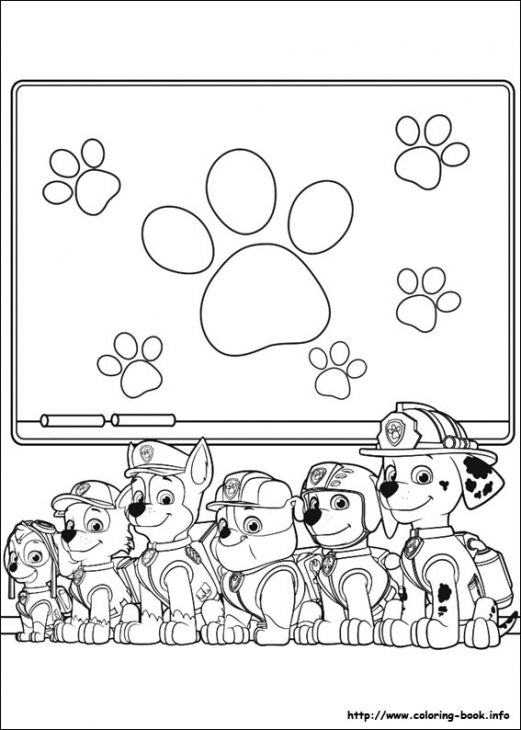 Paw patrol online, Online coloring pages and Online