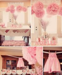 Gift Table: SANAI-get pink Letters, baby pink & White Poms ...