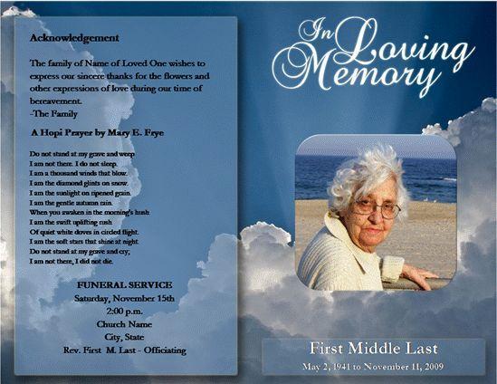 Image result for funeral program template images