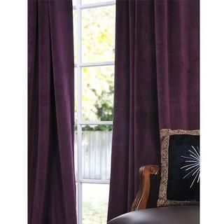 Exclusive Fabrics Signature Eggplant Velvet 120 Inch Blackout