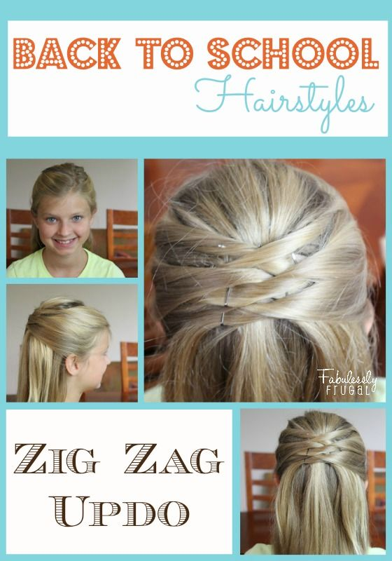 Back to School  Hairstyles  Zig Zag Updo Updo Love this