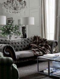 Gray home decor, Velvet tufted sofa and Tufted sofa on ...