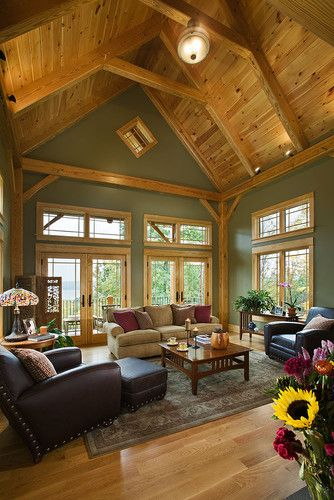 Family Room Sage Green Walls Design, Pictures, Remodel