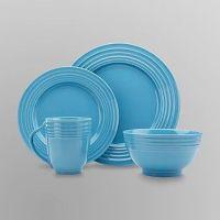 Essential Home 16-Piece Solid Color Dinnerware Set - Round ...