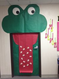 Frogs, Class door and Frog theme on Pinterest