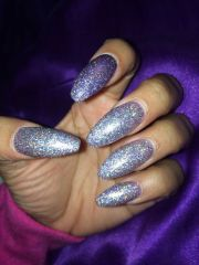 coffin nails. glitter long