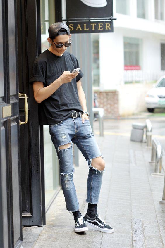30代40代メンズに似合う黒スニーカーコーデ