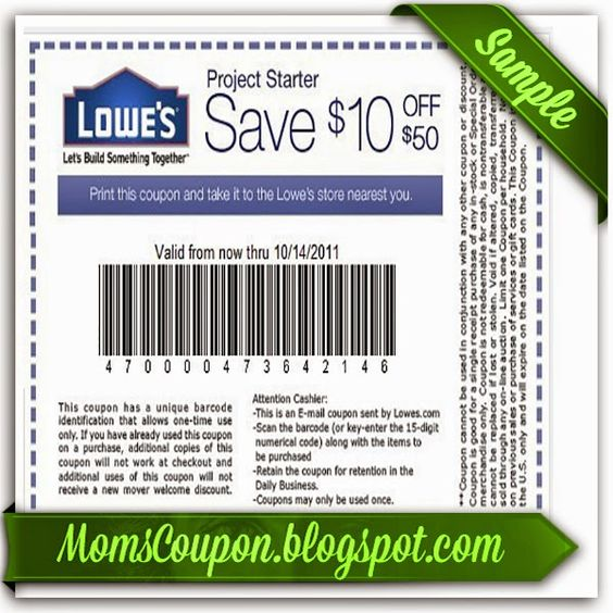 Lowes 10 Printable coupons and Lowes on Pinterest