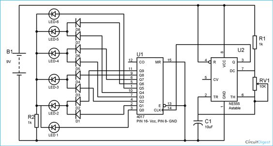 Circuit diagram, LED and Electronic circuit on Pinterest