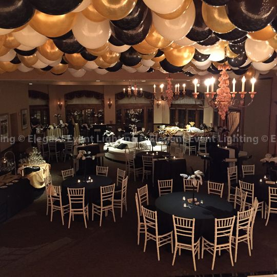 cheap baby high chairs recliner lift balloon drop | herrington inn celebration decor inspiration pinterest gold chairs, harlem ...