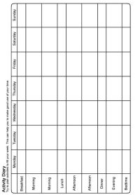 Behavioral Activation Chart   ABA and Behavior Therapy ...