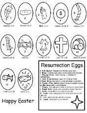 Easter Resurrection Eggs Coloring Pages- Easter Coloring