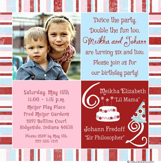 ideas about joint sibling birthday