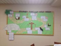 Lent bulletin board that tells the story of Jesus' last ...