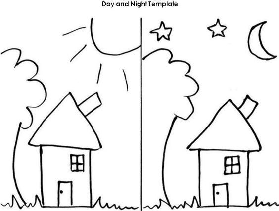 Night, Templates and Worksheets on Pinterest