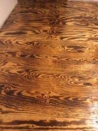 Burnt plywood sheet floor. | Diy house | Pinterest ...