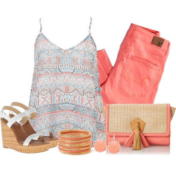 Peach, created by southerngirl-n-michigan on Polyvore: