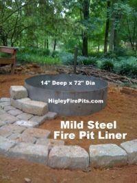 14 x 72 mild steel fire pit liner insert. We make Round ...