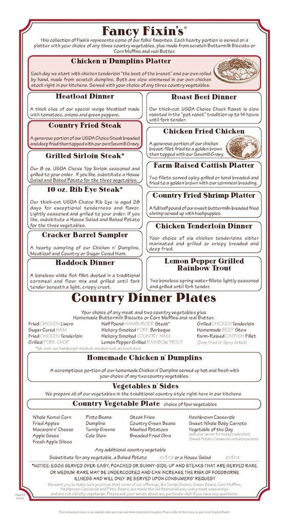 Cracker Barrel Fancy Fixins and Country Dinner Plates