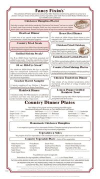 Cracker Barrel Fancy Fixins and Country Dinner Plates ...