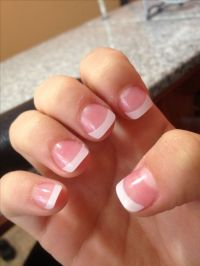 short French tip acrylic nails | Nailed It | Pinterest ...