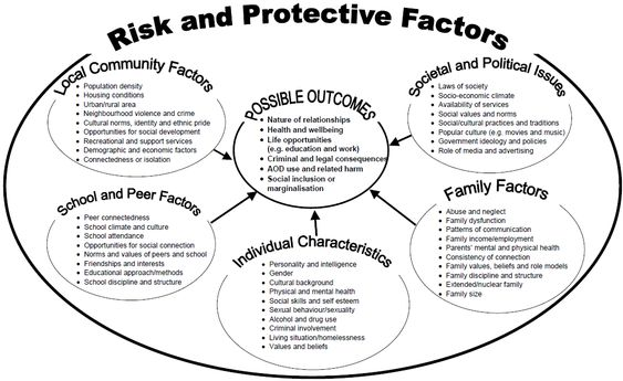 Risk and Protective factors for substance abuse prevention