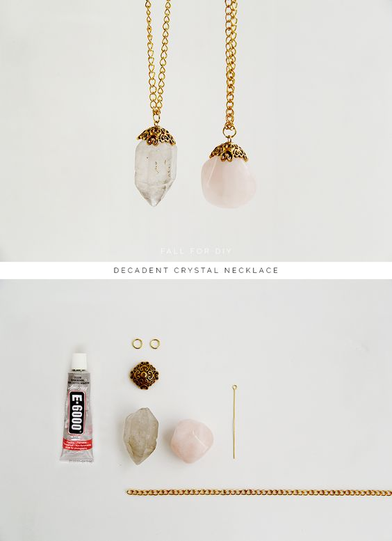 Fall For DIY Decadent Crystal Necklace - make any stone or other object into a cute pendant with a beadcap and an eyepin