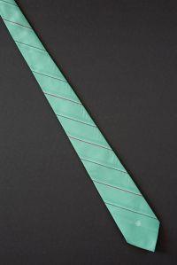 Sea Foam Green Striped - 80s Van Heusen Logo Tie | Sea ...